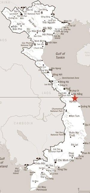 map to hoi an, vietnam