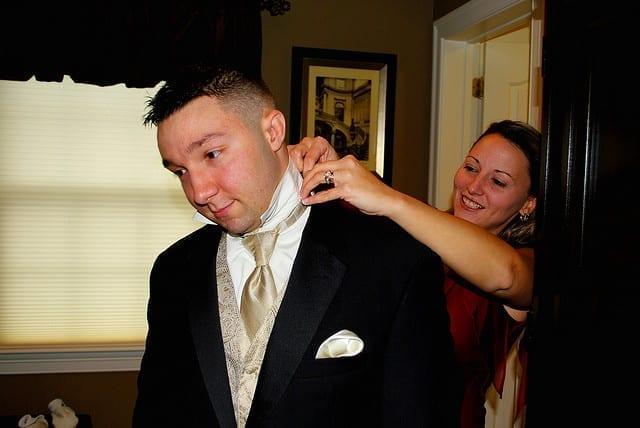tuxedo rented for wedding