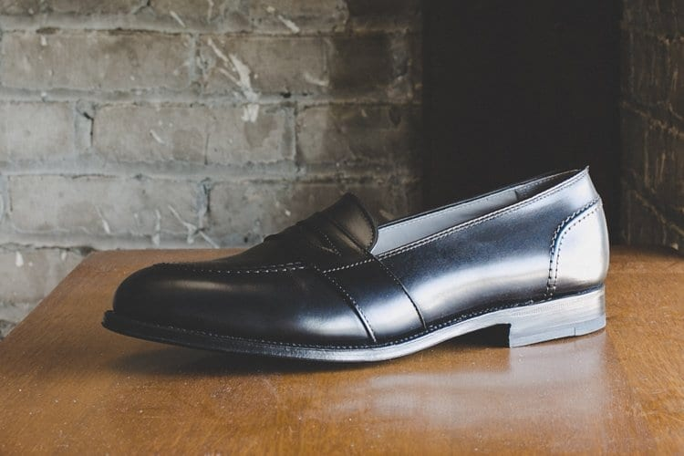 alden loafers, black