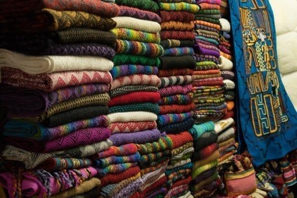 sweaters at the centro artesanal market avenida el sol tullumayo