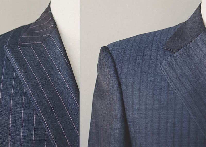 peak or notch lapel for business suiting