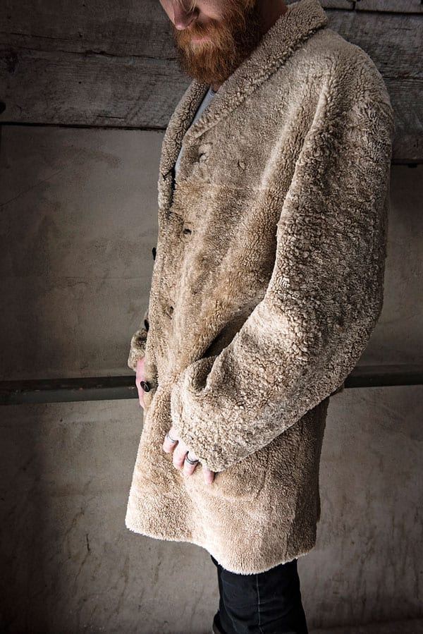 natural shearling coat