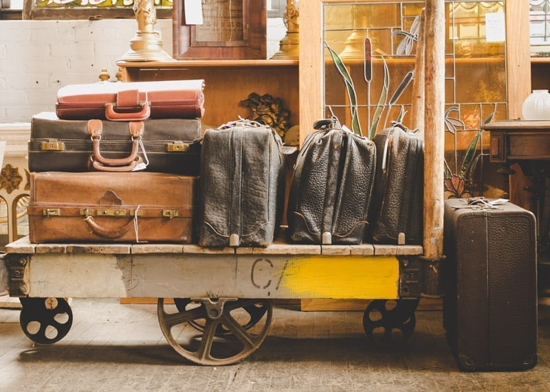 high value vintage luggage