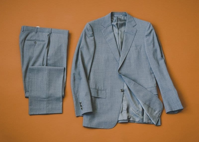 Pre-Owned Suit Buying Guide, flat lay image