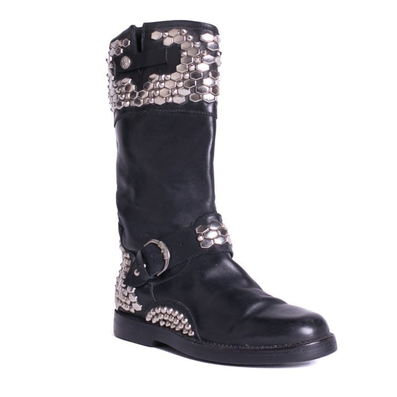Men's Studded Boots On Consignment