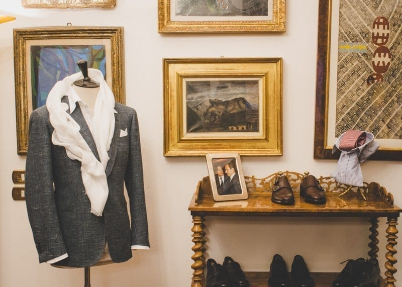 Battistoni Shoes and Suits on Display, Rome