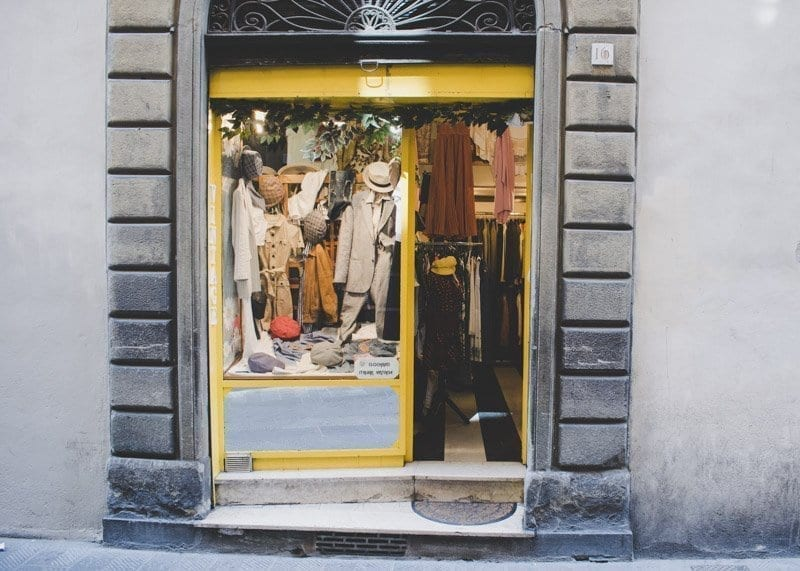 Clochard, vintage shopping destination, Florence Italy