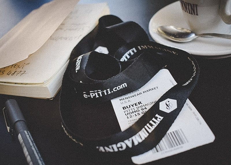 Notebook, Coffee, Lanyard, Flat Lay Pitti Uomo 94, 2018