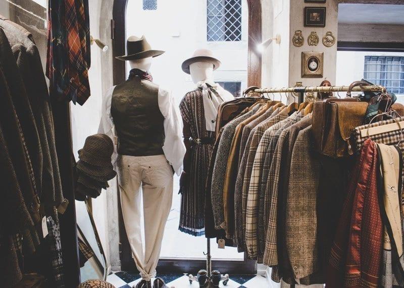 Tartan, used clothing, Florence