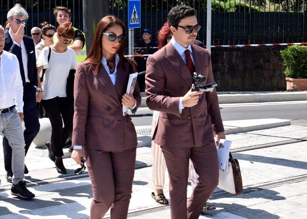 Burgundy Suit, Pitti Uomo