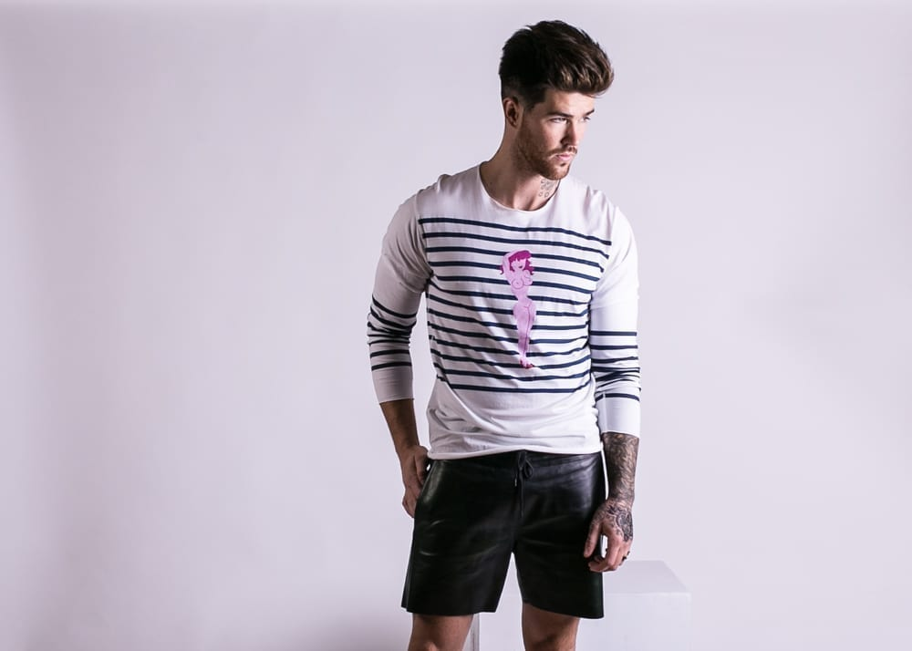 Lookbook, nautical stripe, Lucien Pellat Finet, designer