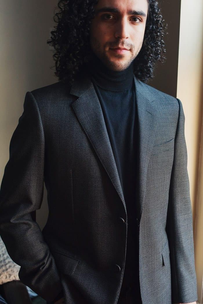 Gray sport coat blazer, Lanvin men's
