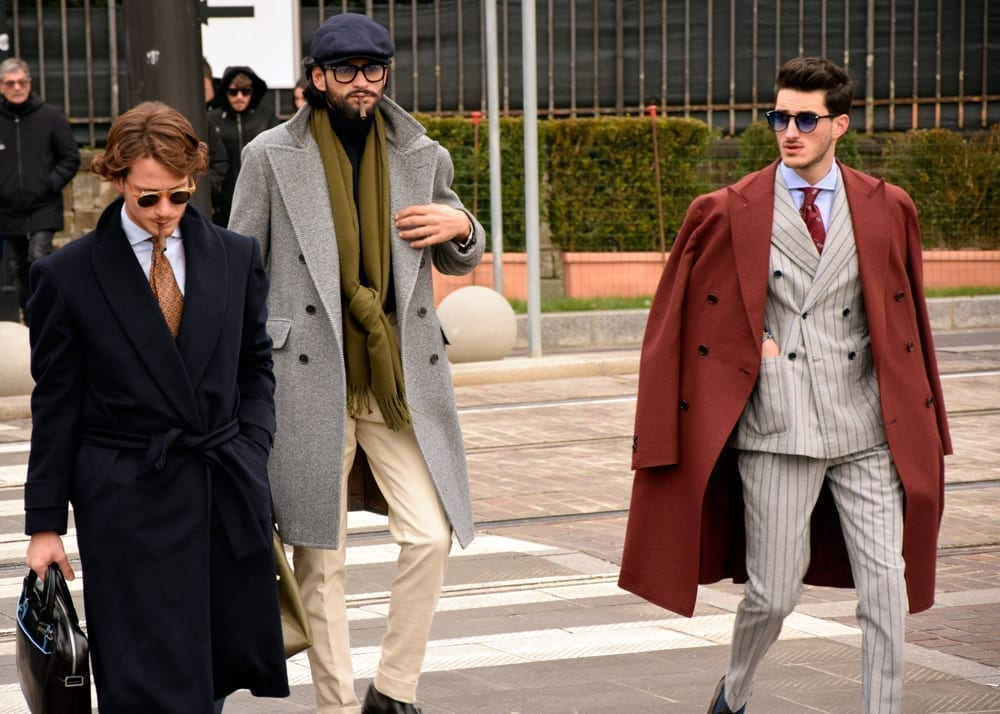 Overcoats, top coats, Pitti 95