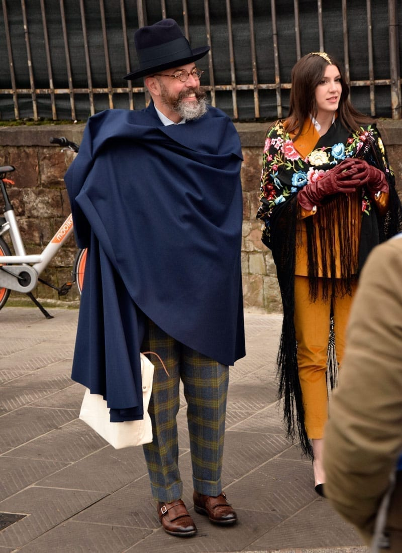 cape, blanket, shawl men's style trend pitti