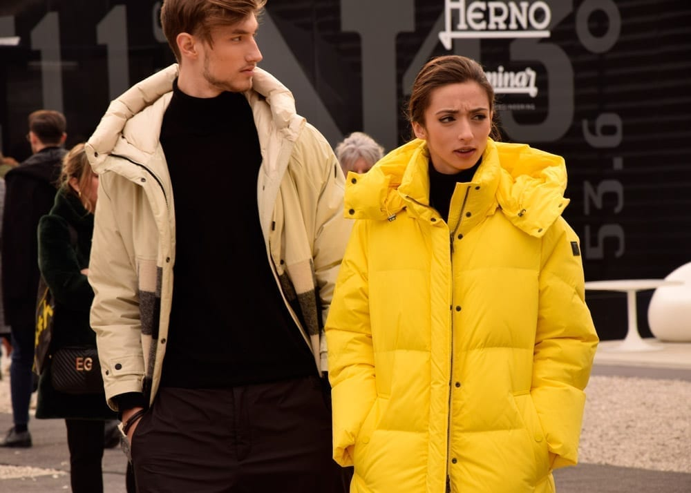 pitti street style, yellow fluro, parka