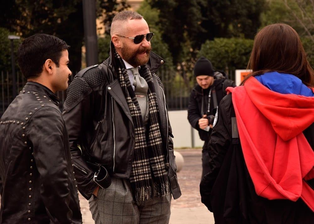 Biker jackets, leather outerwear, Pitti Uomo street 2019