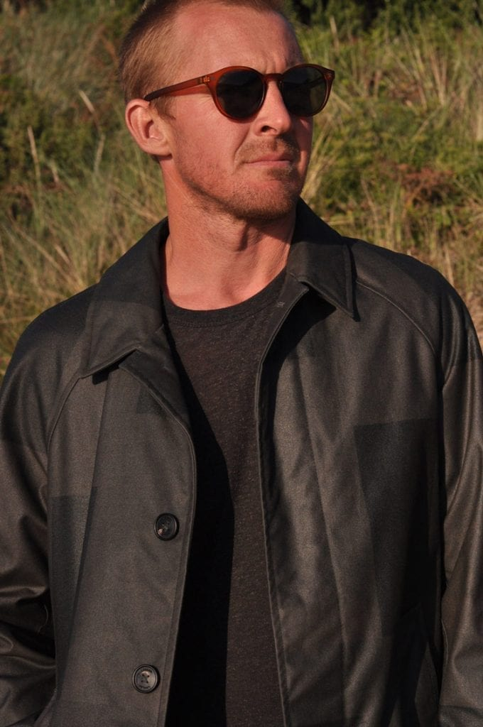 Atlantic trench coat in cinder black, Lamler