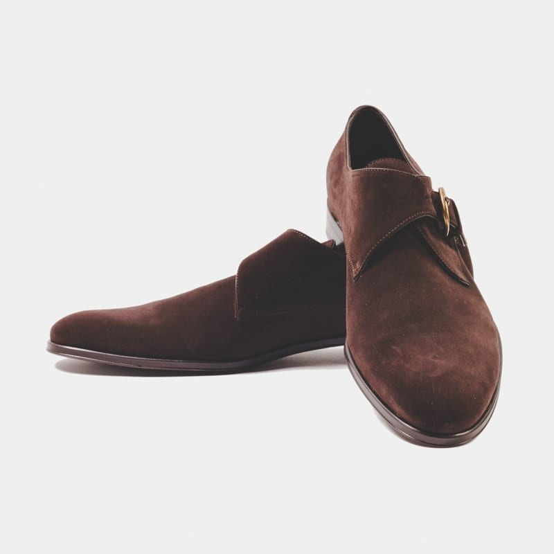 suede monk shoes