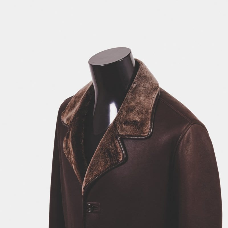 shearling coat, zegna
