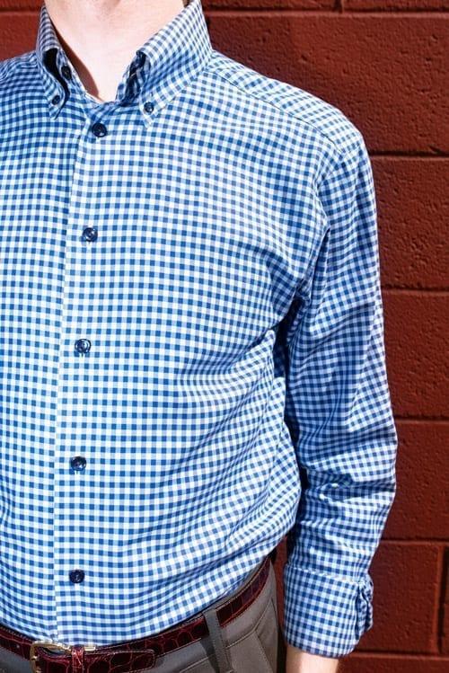 close up image, Eton Contemporary shirt