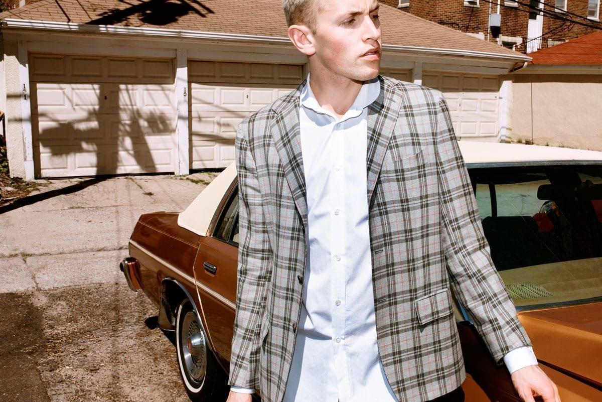 man in stylish sport coat jacket