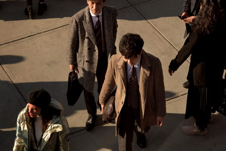 overcoat styles at pitti, 2020